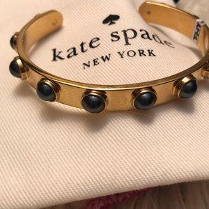 Kate Spade gold cuff bracelet w/ stones NEW